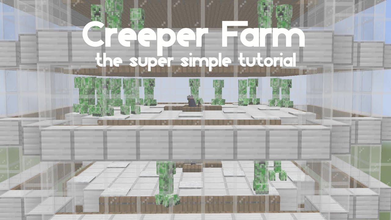 Simple Creeper Farm Tutorial 1 16 Youtube