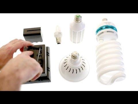 Best Video Lighting Part1 Led Vs Halogen Cfl Bulbs