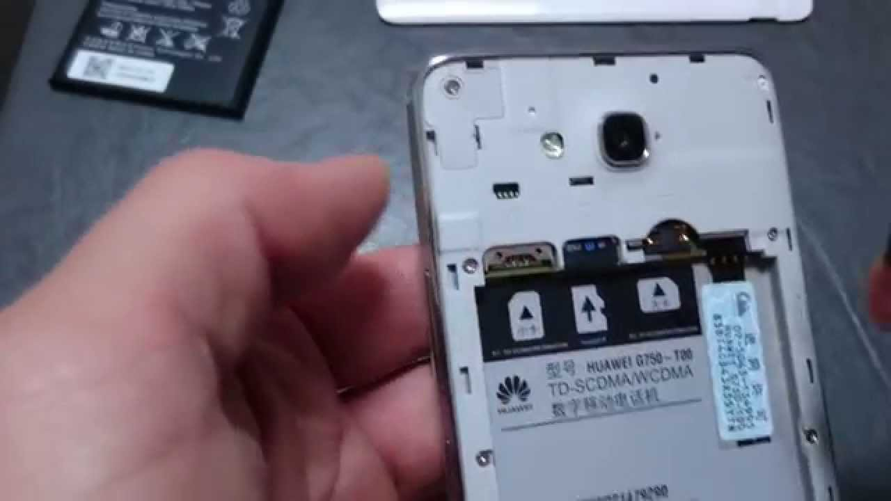 Huawei Honor 3X: How to Insert/Eject both Dual Sim Cards & SD Card