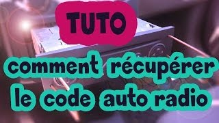 TUTO comment récupérer le code auto-radio Renault (how to get radio code for your Renault) HD