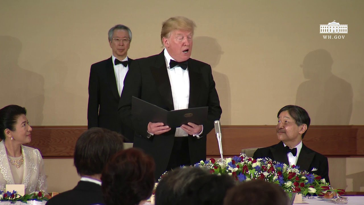 President Trump and the First Lady Attend the State Banquet