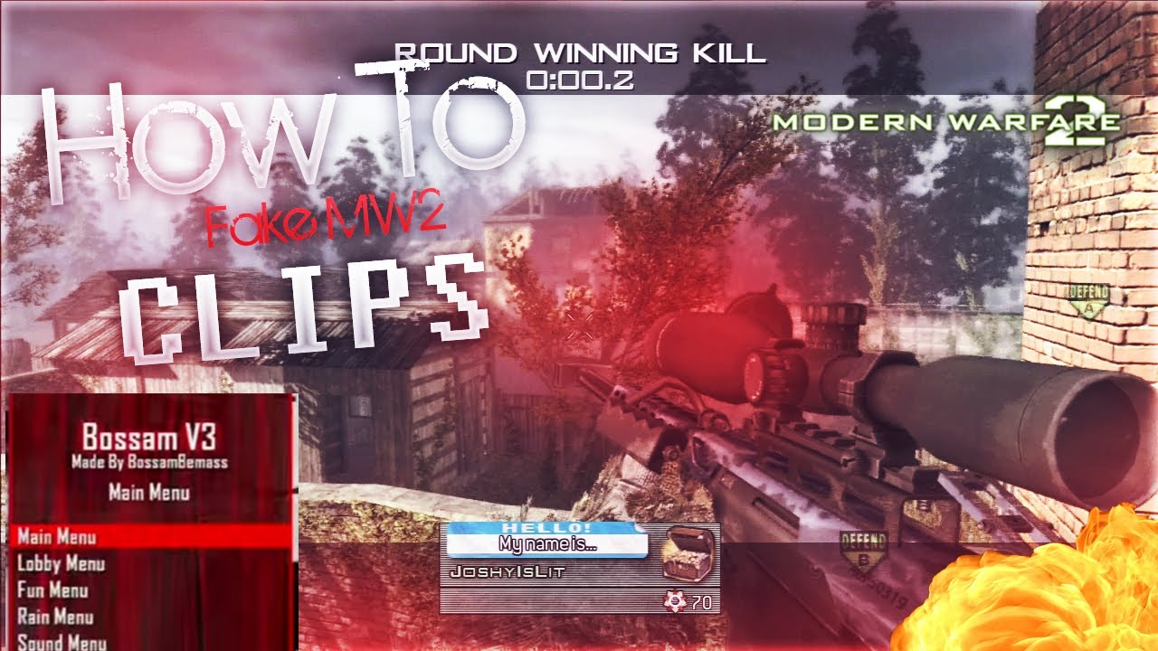 HOW TO FAKE MW2 CLIPS WITH AN AZZA MENU