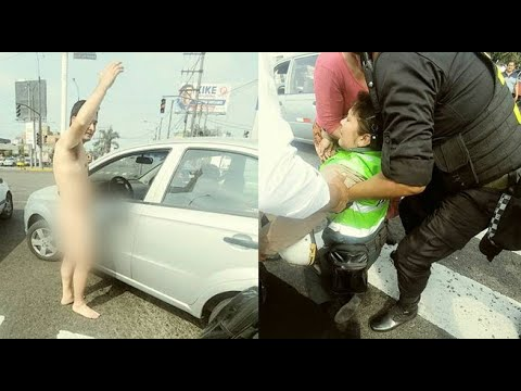 Capitán PNP desnudo agrede a mujer policía luego de ser intervenido
