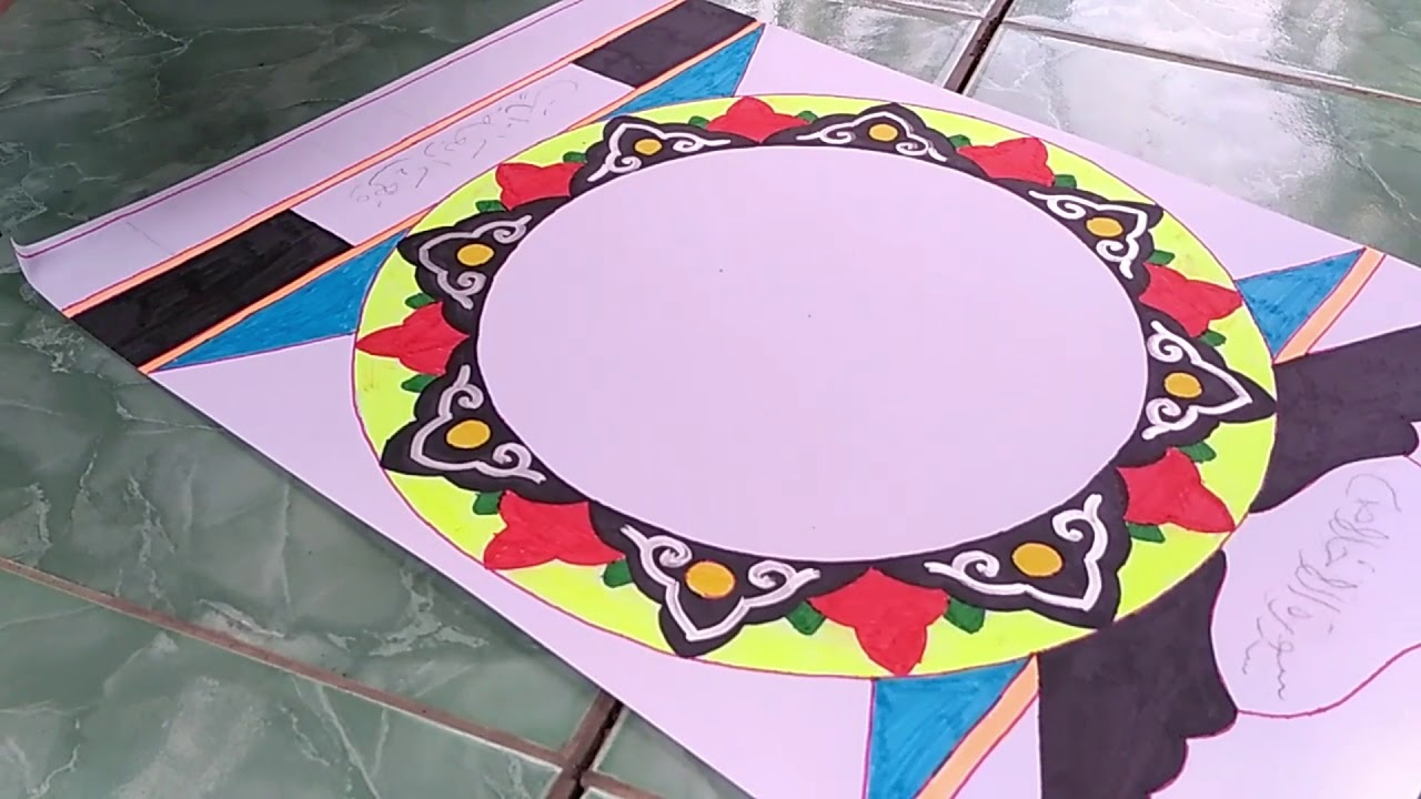 Cara Membuat Hiasan Kaligrafi Mushaf Surat Al Ihklas Part 2