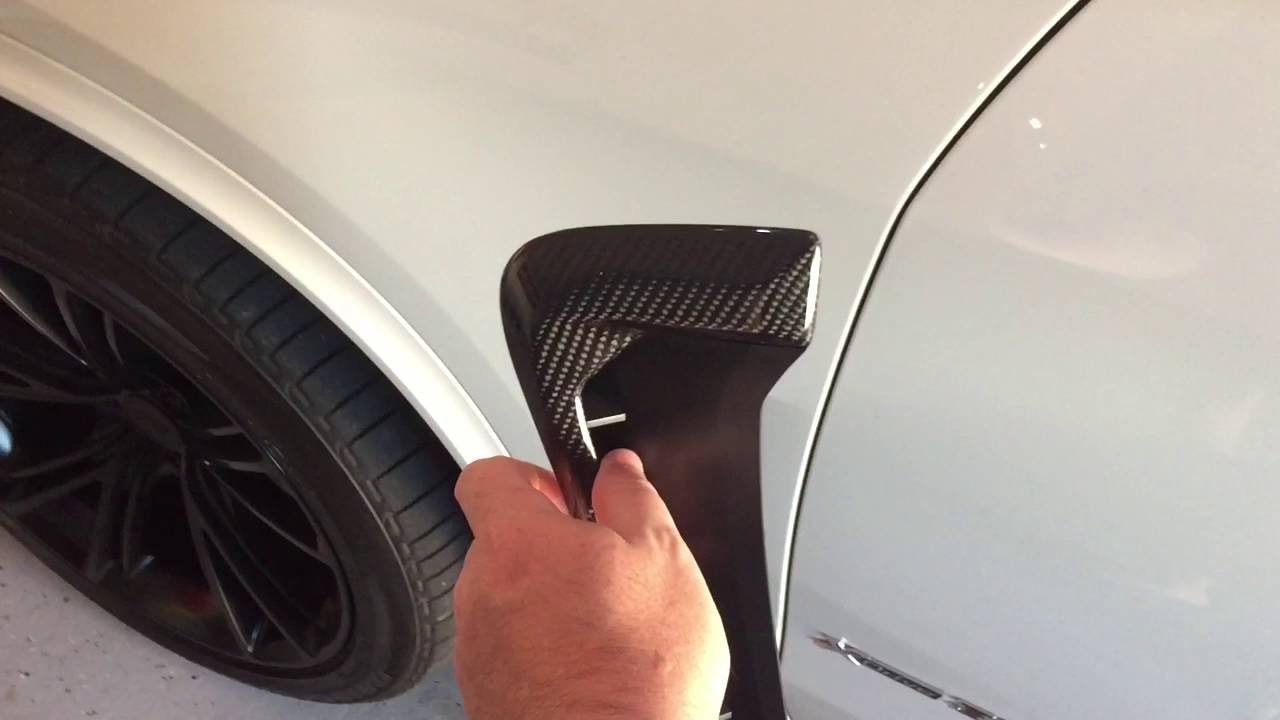 AutoTecknic BMW X5 Carbon Fender Vent Installation - YouTube