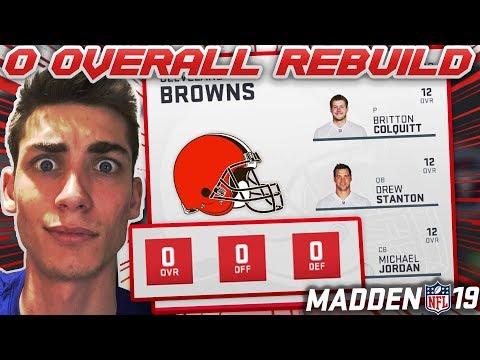 Hardest Rebuild on Madden 19! Rebuilding a 0 Overall Team!