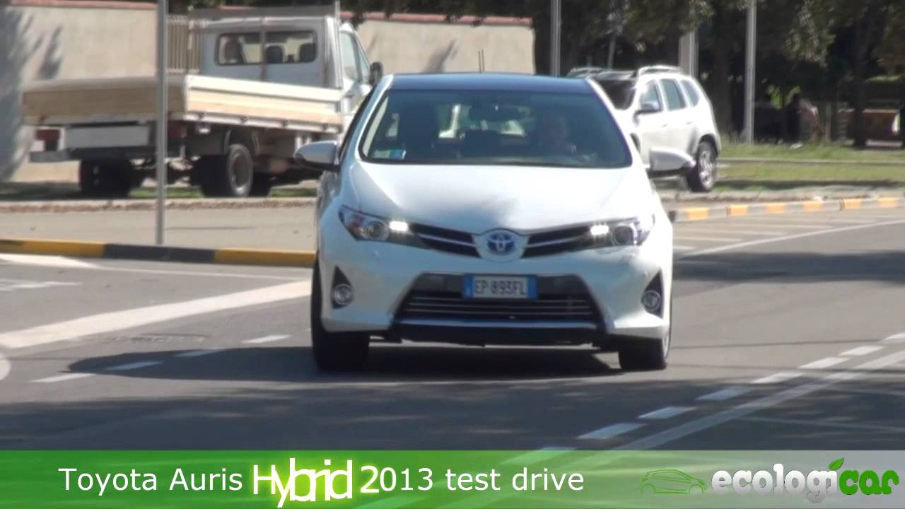 toyota auris hybrid 2013 test drive youtube. Black Bedroom Furniture Sets. Home Design Ideas
