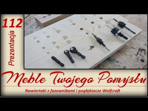 Nawiertaki z fazownikami i pogłębiacze Wolfcraft, test / Drills with chamfers and countersinks