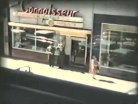 1958~ Vintage cars & trucks downtown St. Paul Mn ~Traffic squad