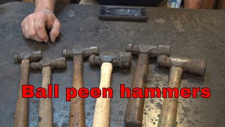 Tool of the day ball peen hammers