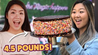 I Challenged My Friend To Finish A 4.5-Pound Ice Cream Sandwich Made For Cardi B • Giant Food Time