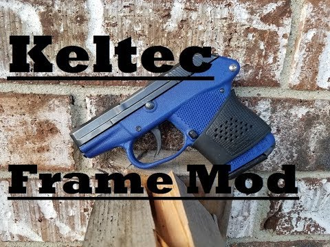 Keltec P-32, P-11, and P3AT frame modification