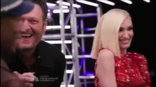 Gwen And Blake Funny And Sweet Moments Part 1 The Voice