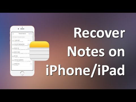 How to recover deleted notes on ipad mini