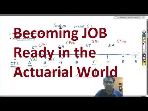 Actuarial Science - Becoming Job Ready For Actuarial (Actuary) Jobs In India - Video 1
