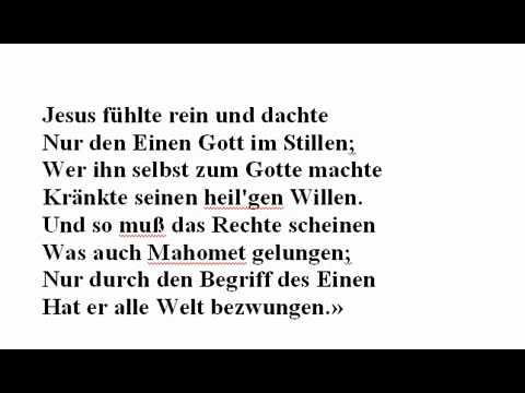 Goethe Vermittelt In Seinen Werken Seine Wahre Gottes Erkenntnis