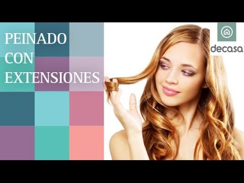 Peinado Con Extensiones Tutorial Look De Fiesta Youtube