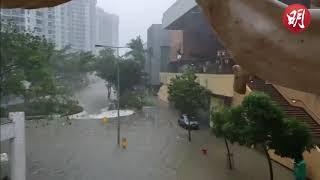 杏花邨再成澤國 渠噴水柱垃圾湧路