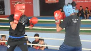 Mary Kom Boxing academy students during training