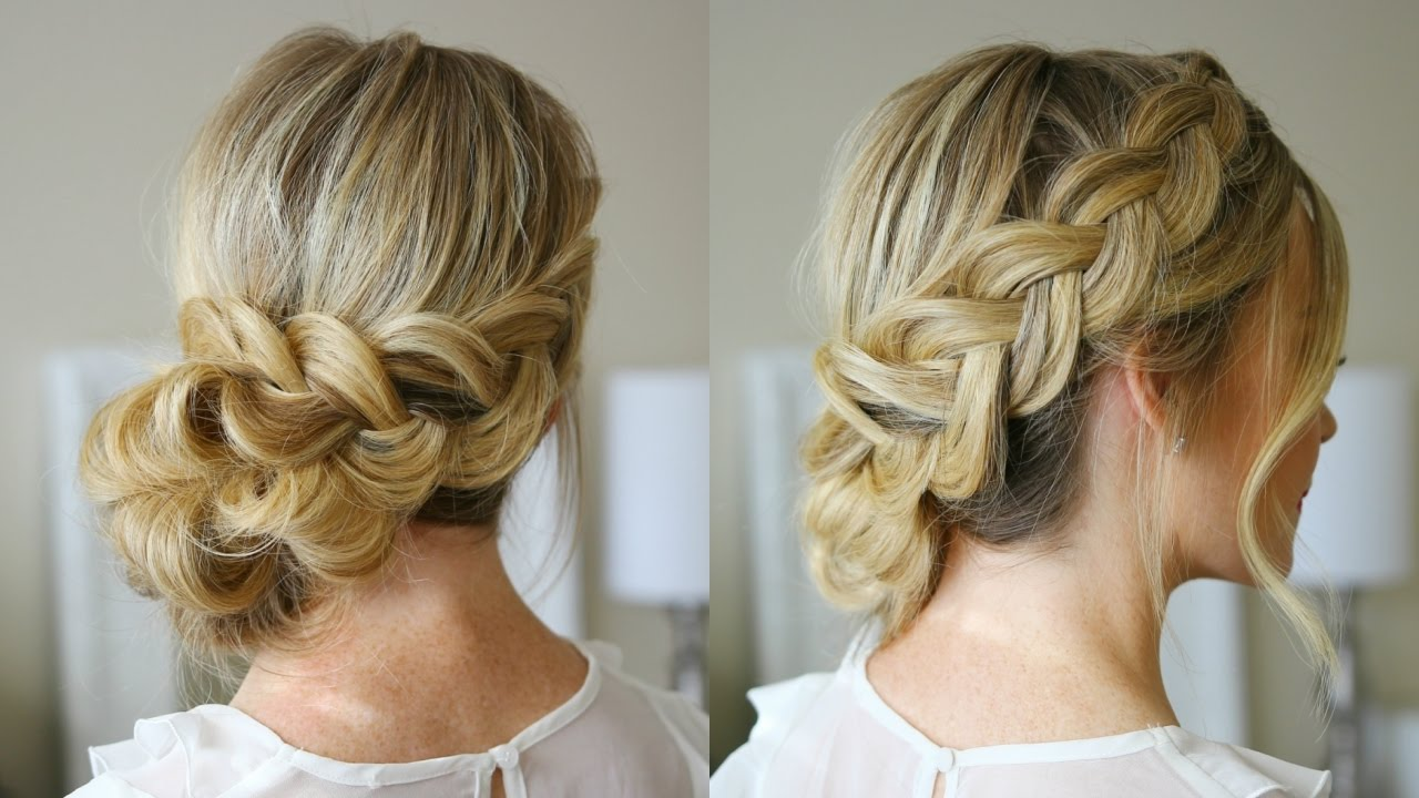 dutch braid holiday updo missy sue youtube