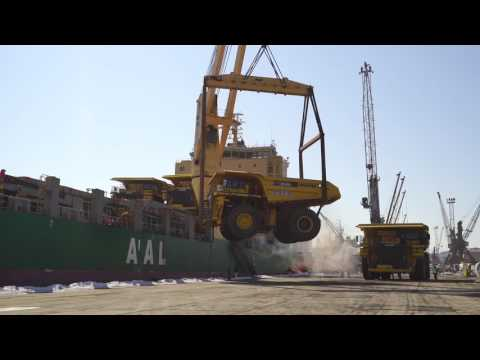 AAL Delivers 13 Monster Trucks (160mt each) to Nakhodka in Russia