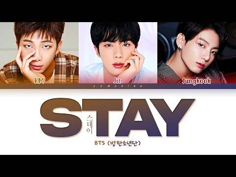BTS Stay Lyrics (방탄소년단 Stay 가사) [Color Coded Lyrics/Han/Rom/Eng]