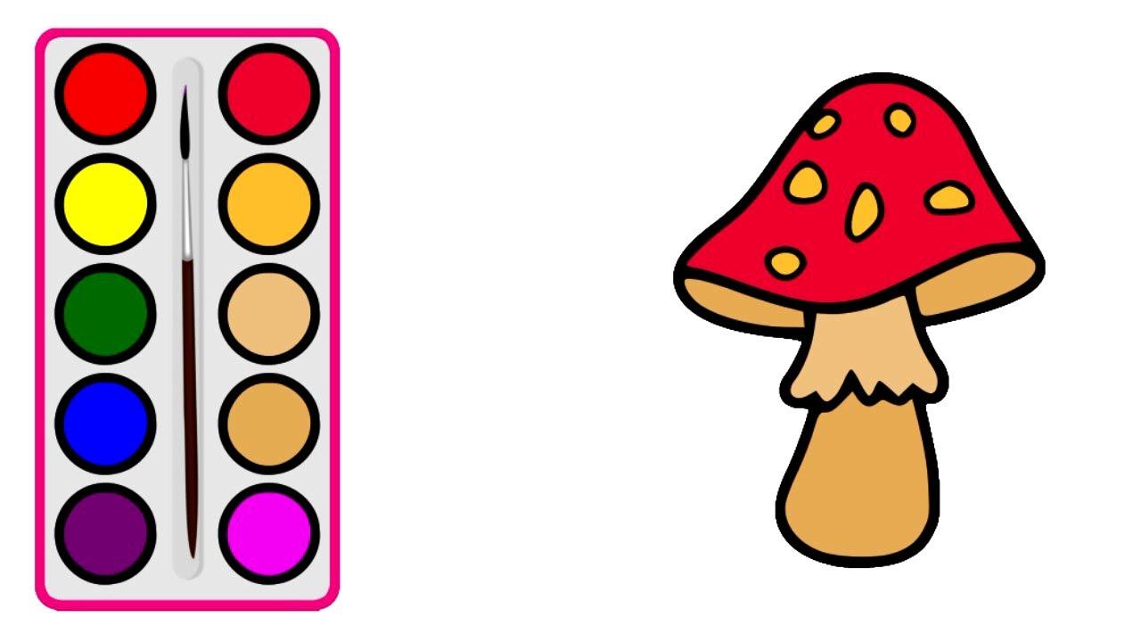 Cara Menggambar Jamur