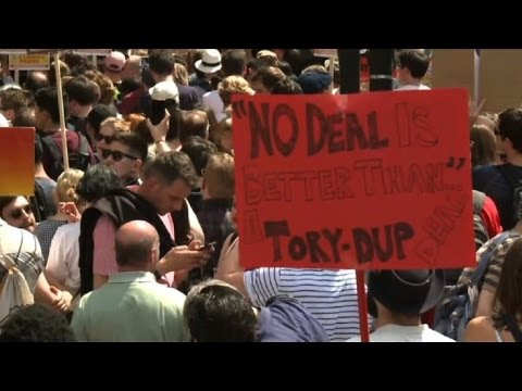 London protesters rally against possible Tory-DUP deal