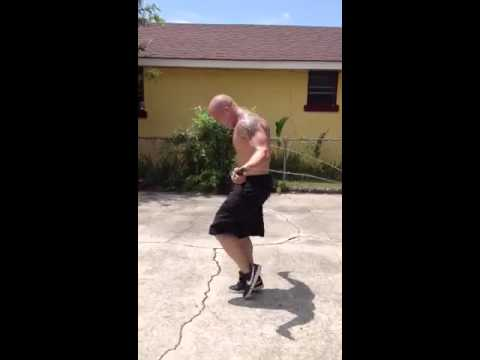 Stuntman and Actor Aaron Saxton Jumping rope