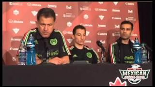 press conference with juan carlos osorio andres guardado y rafa marquez