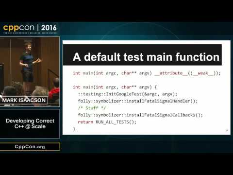 "CppCon 2016: Mark Isaacson ""Developing C++ @ Facebook Scale"""