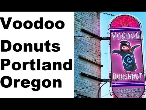 Inside Voodoo Doughnut, portland, oregon