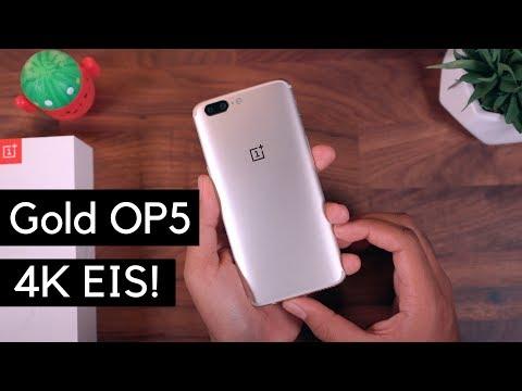 Soft Gold OnePlus 5 + 4K EIS UPDATE!