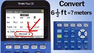 TI 84 Plus CE How to Convert Lengths from One Unit to Another Unit