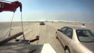 Beach driving in August   Soft Sand Deep Ruts