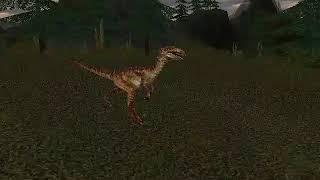 Carnivores 2 - Velociraptor and Allosaurus idle animations