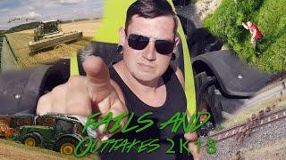 Fails & Outtakes 2018! | lustige Traktorristen, Pannen ▶ Agriculture Germanyy