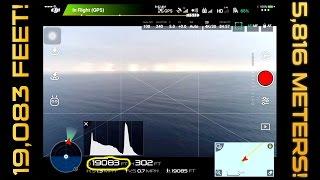 PHANTOM 4 PRO LONG RANGE TEST - 19,000 feet (3.6miles, 5.79 kilometers)