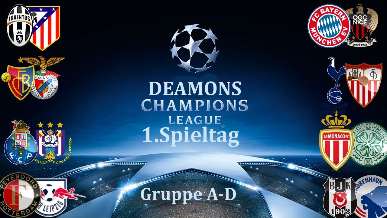 champions league 1 spieltag