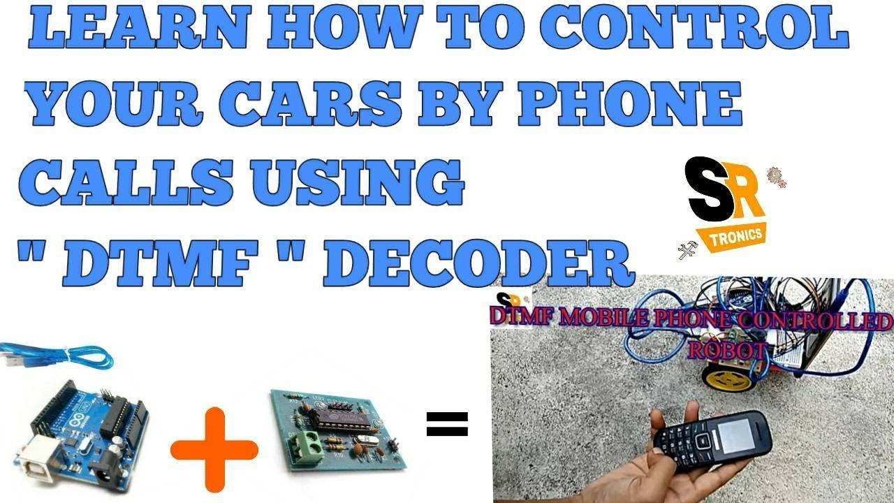 DTMF PHONE CONTROLLED ROBOT