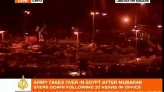Rabab Al Mahdi gives her reaction to Mubarak leaving