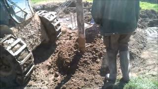 House build. 1. Foundations: Drilling Piles