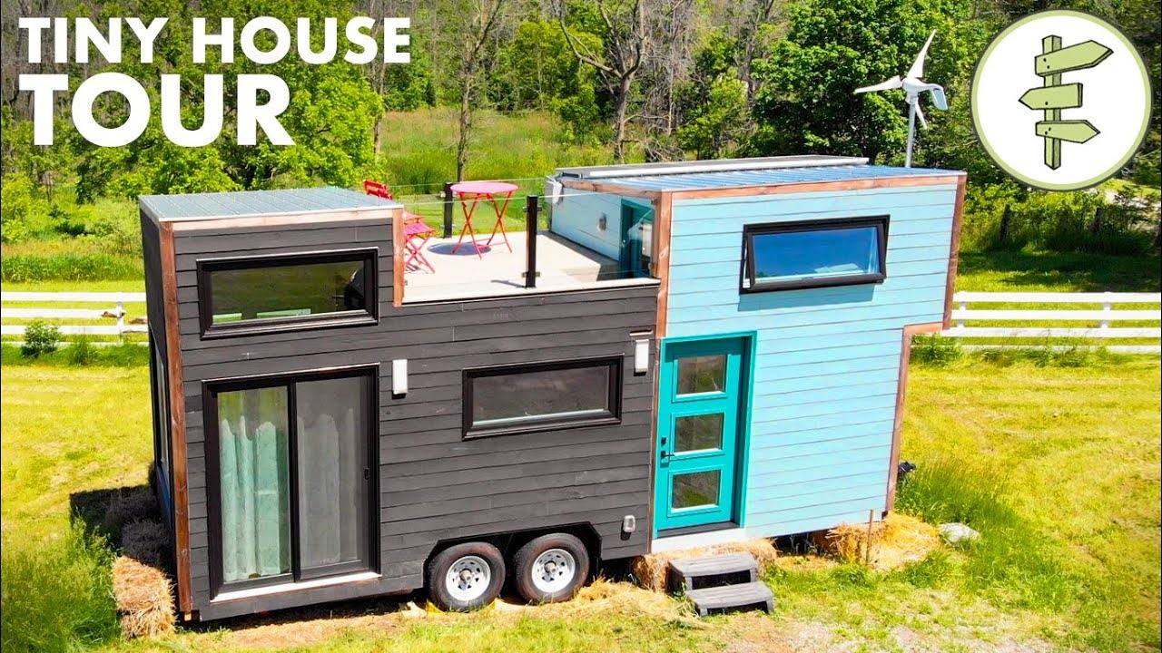 Modern High End Tiny House With Xl Kitchen Rooftop Deck