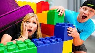 Extreme GIANT LEGO House Hide and Seek with Unspeakable!