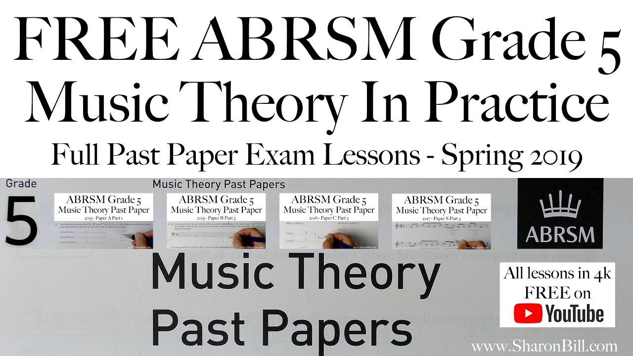 ABRSM Grade 5 Music Theory | Sharon Bill's Music Theory and