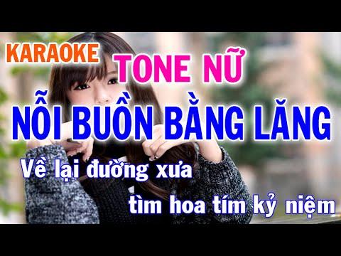 Karaoke Nỗi Buồn Bằng Lăng Tone Nữ Nhạc Sống l Nhật Nguyễn