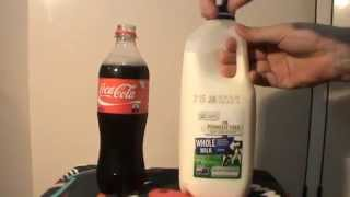 Coke and milk experiment. Gross!