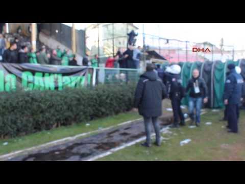 Sakaryaspor - Erzurumspor maçında olaylar