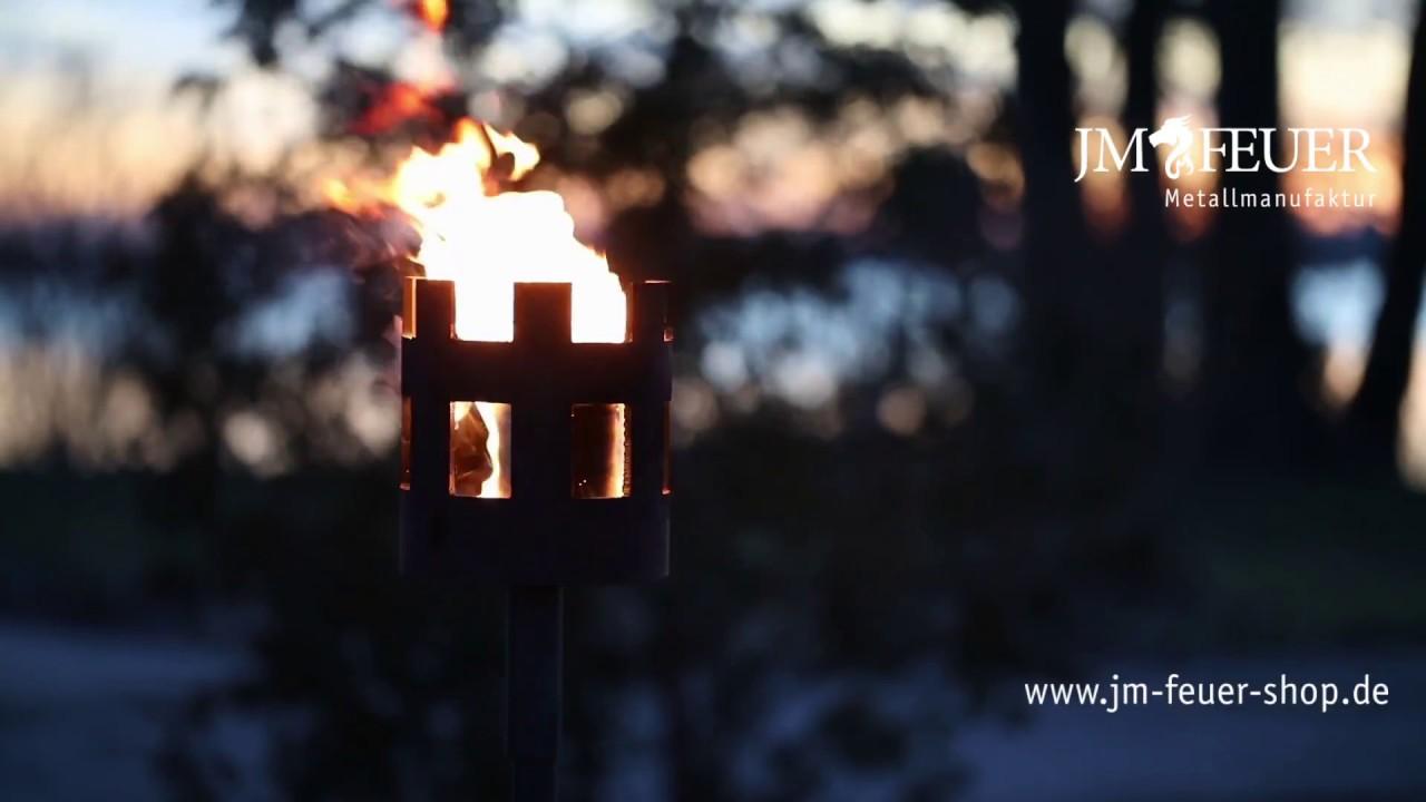 Jm Feuer gartenfackel mittelalter aus metall