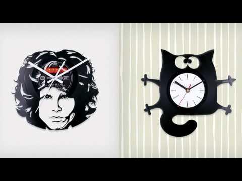 Новая жизнь винила. Настенные дизайнерские часы.